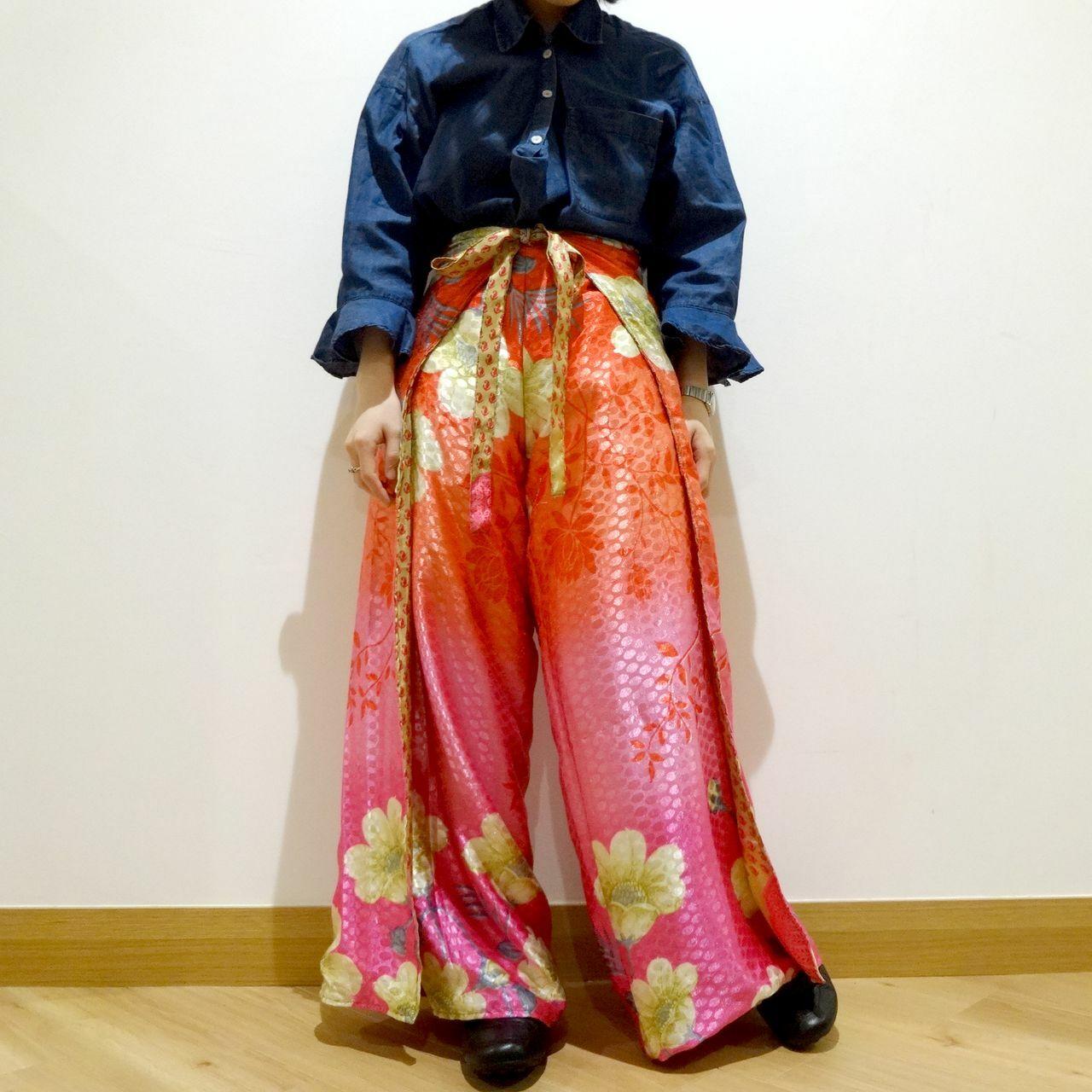 vdsn-037 ビンテージシルクサリーネパリパンツ「マーメイドピンク」【訳あり】