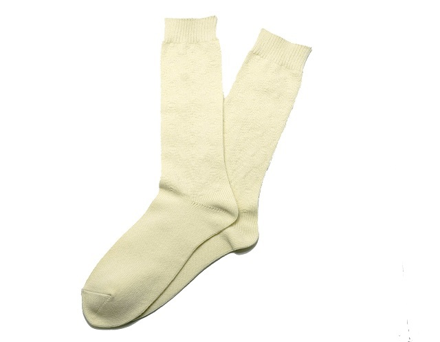 SURF SKATE CAMP #S.S.C Cable Socks (IVORY)