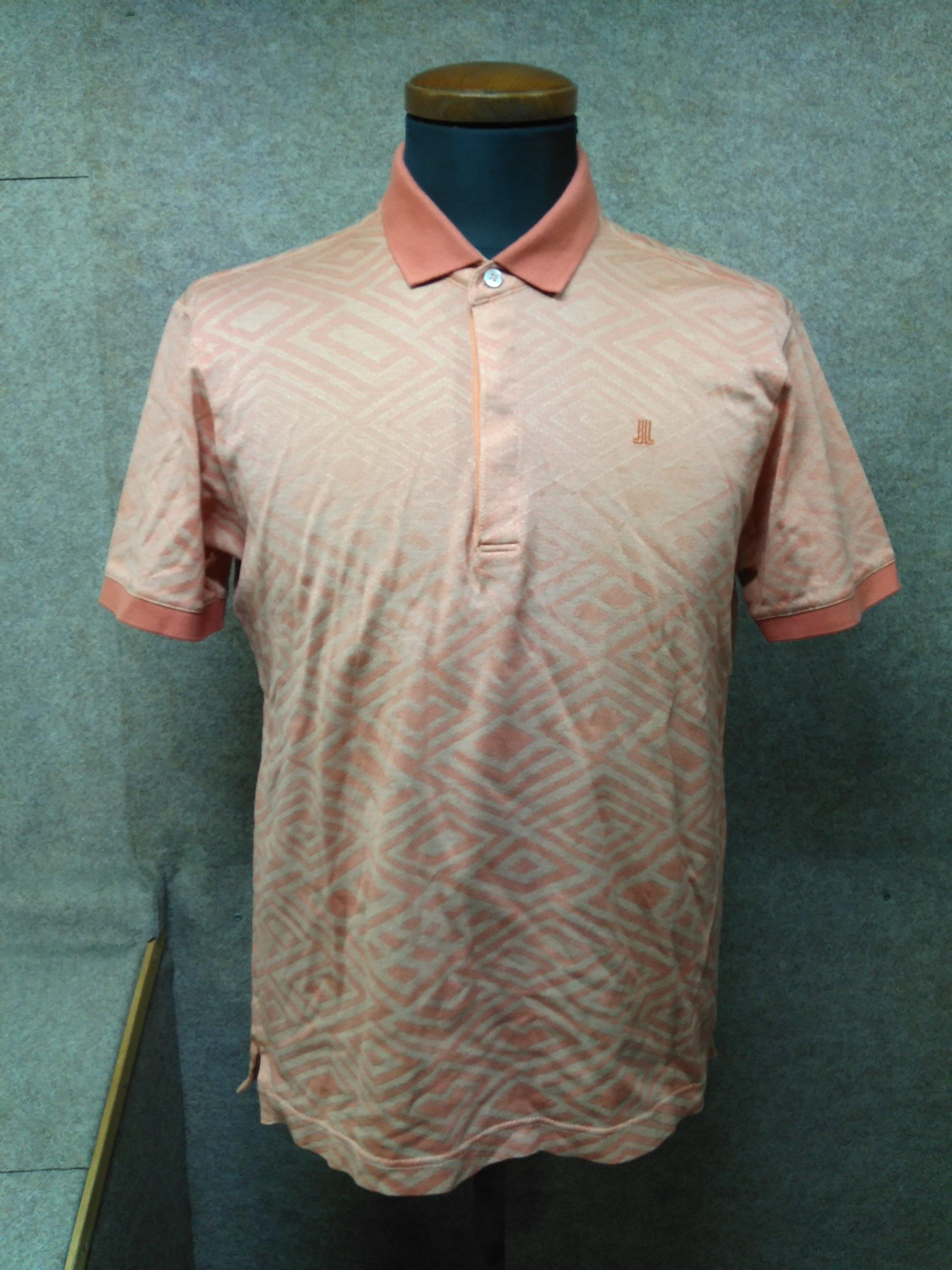 ランバン LANVIN メンズポロシャツ L オレンジ系 my628e
