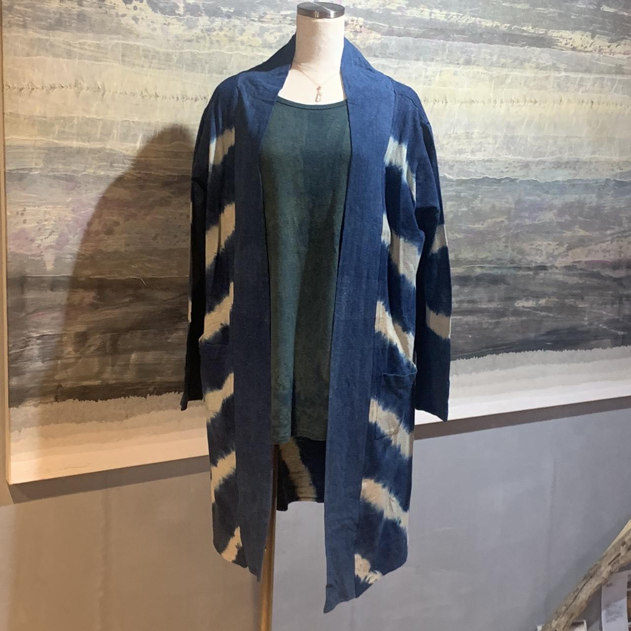 【先行販売価格】 ∞Womans Jacket∞藍染めヘンプコットン