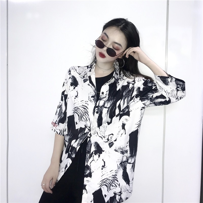 【tops】 ストリート系配色POLOネックシャツ21904429