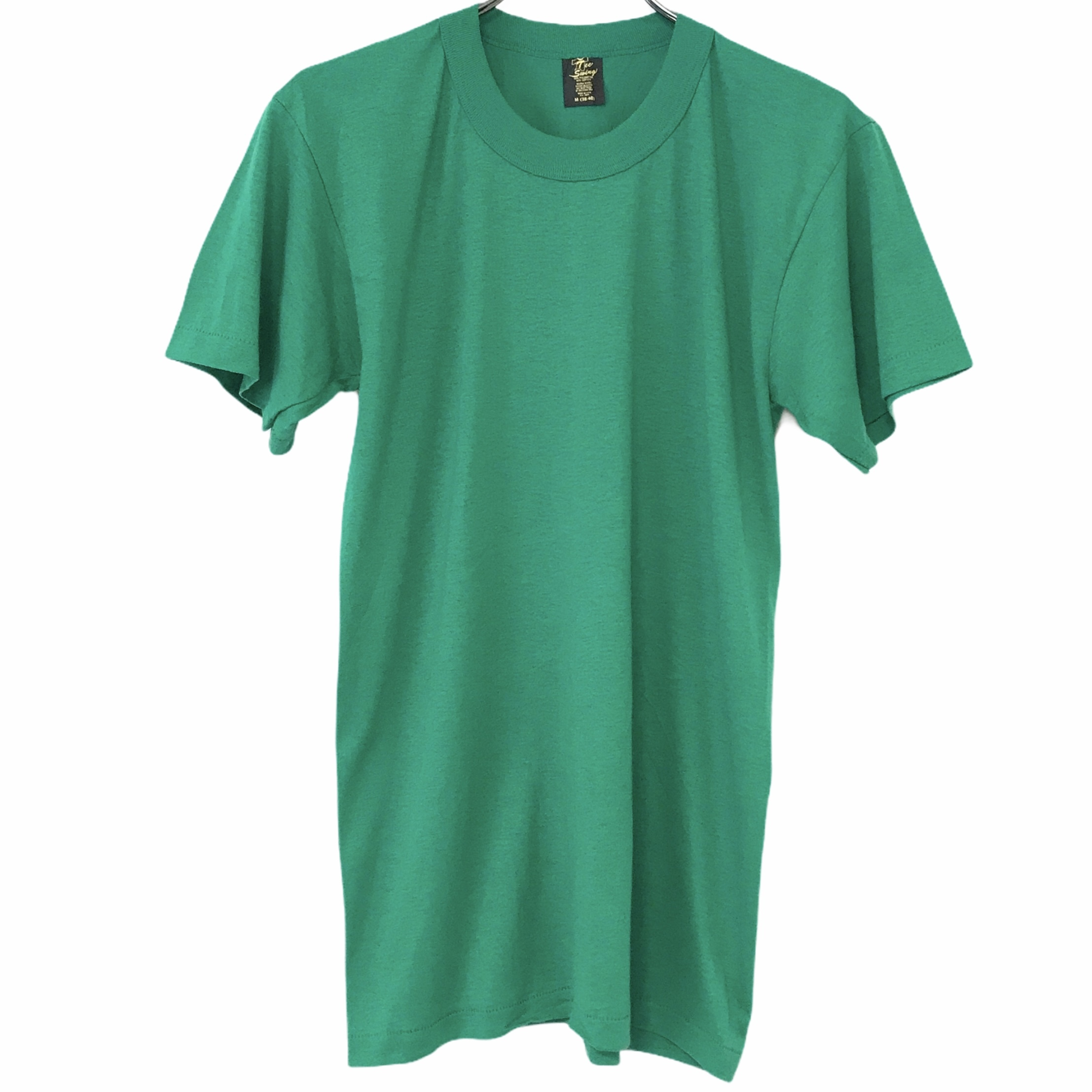 Dead Stock! 80's Tee Swing T-shirt made in USA Green
