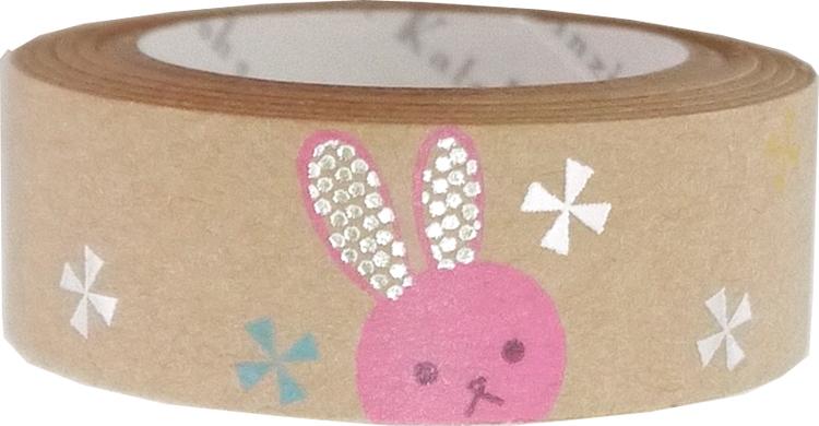 クラフトデコレーションテープ pink rabbit