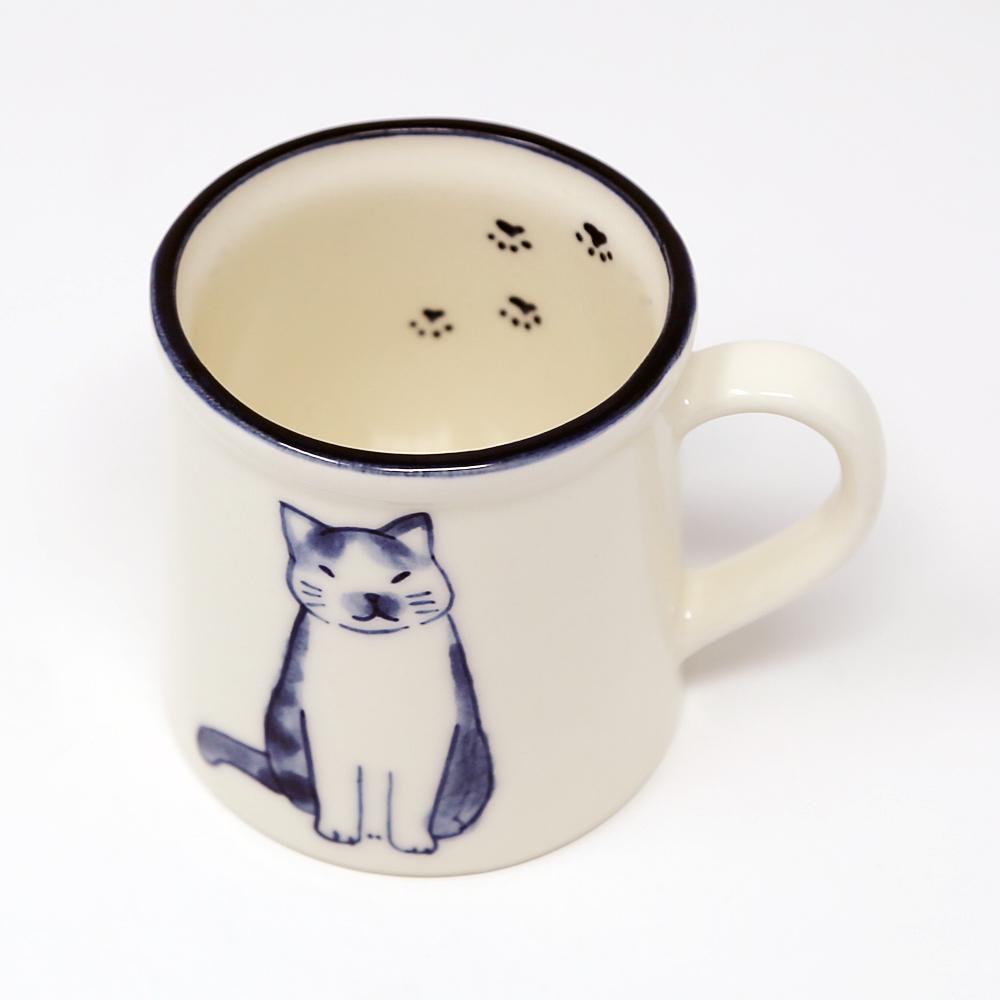 猫マグカップ(萬古焼ねこマグ)
