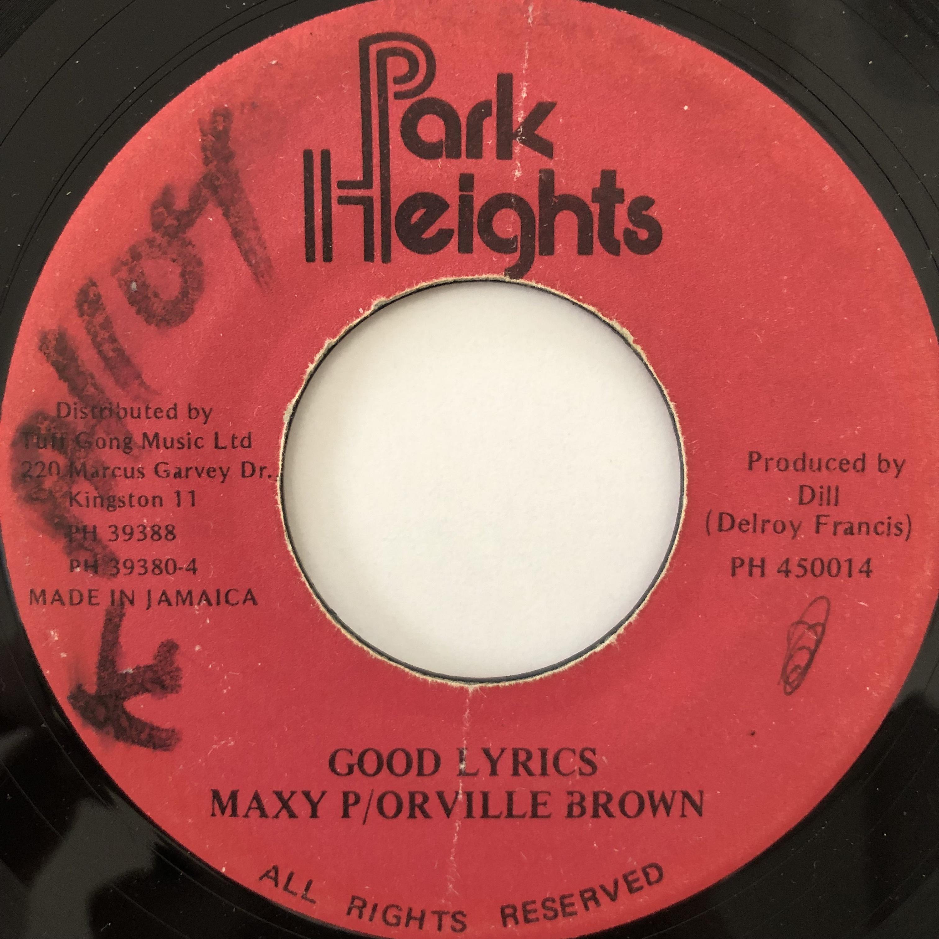 Maxy P, Orville Brown - Good lyrics【7-20062】