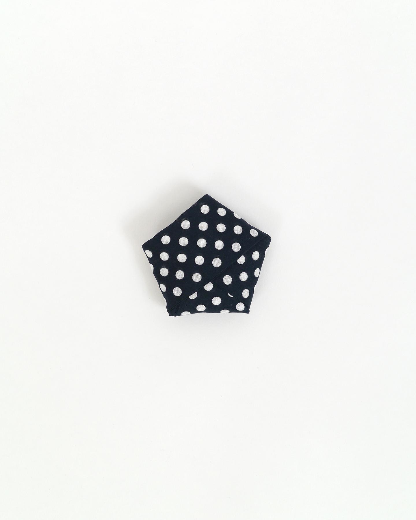 こしひも-水玉(黒)
