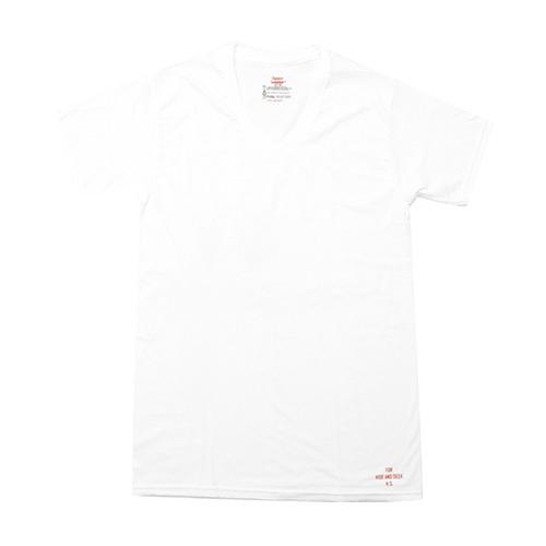 HIDEANDSEEK(ハイドアンドシーク) / HANES 3P S/S TEE(16SS)(HT-060616)(VネックTシャツ)