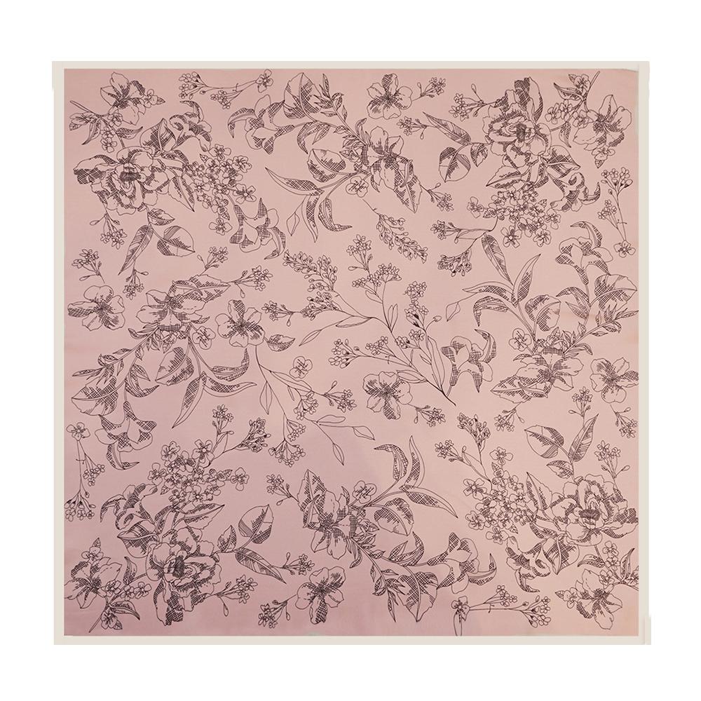 SCARF - SKETCH FLOWER - PALE PINK