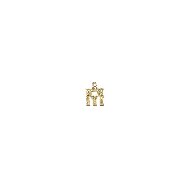 【70%OFF】アルファベット装飾M