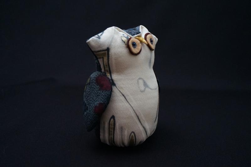 着物、和服の古布人形・縁起物「ふくろう」1 - 画像3
