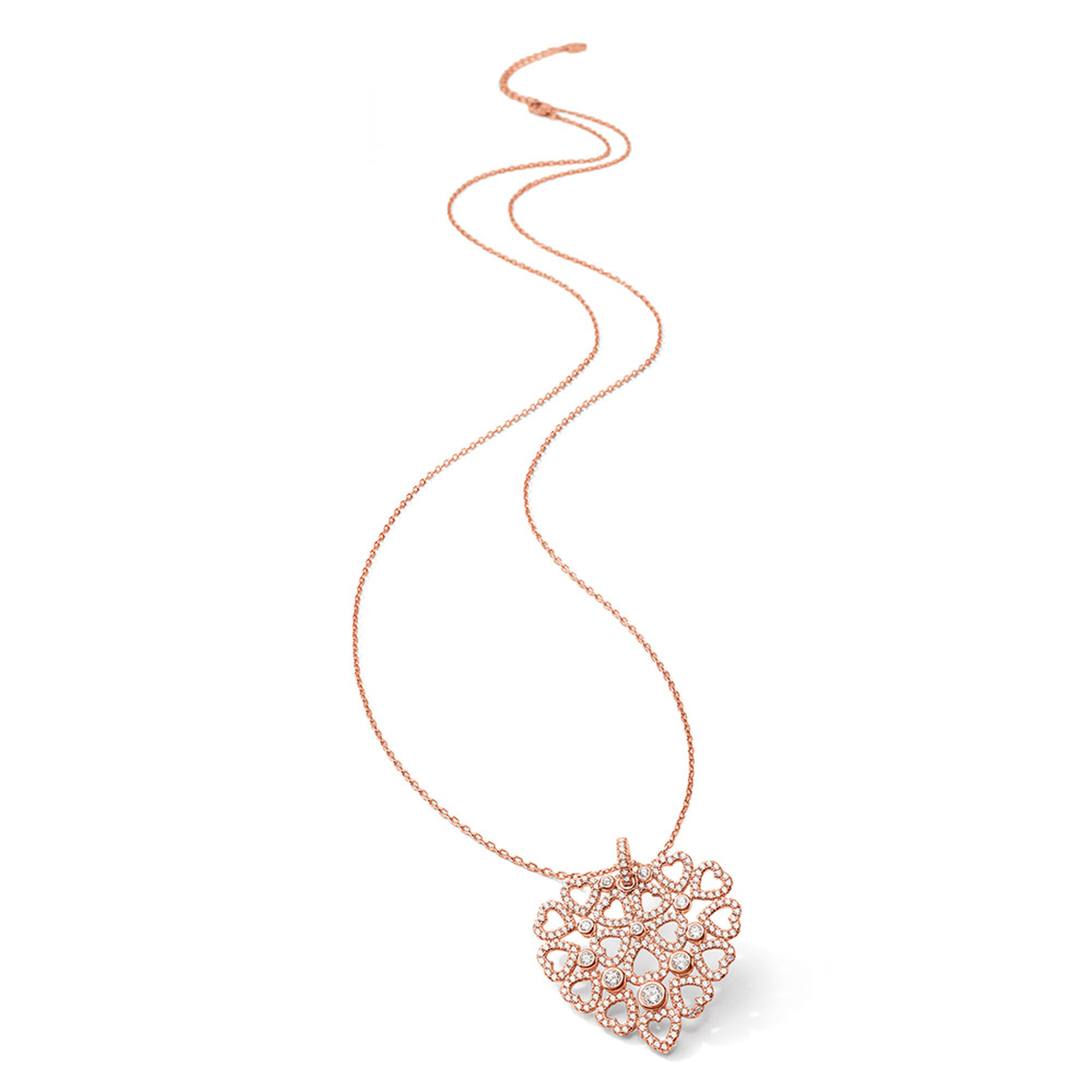 FASHIONABLY SILVER VALENTINE'S HEARTネックレス ¥23,100↓
