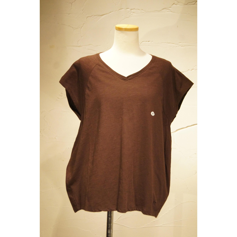 【ピープルツリー】フレアVネックTシャツ(オーガニックコットン)188279