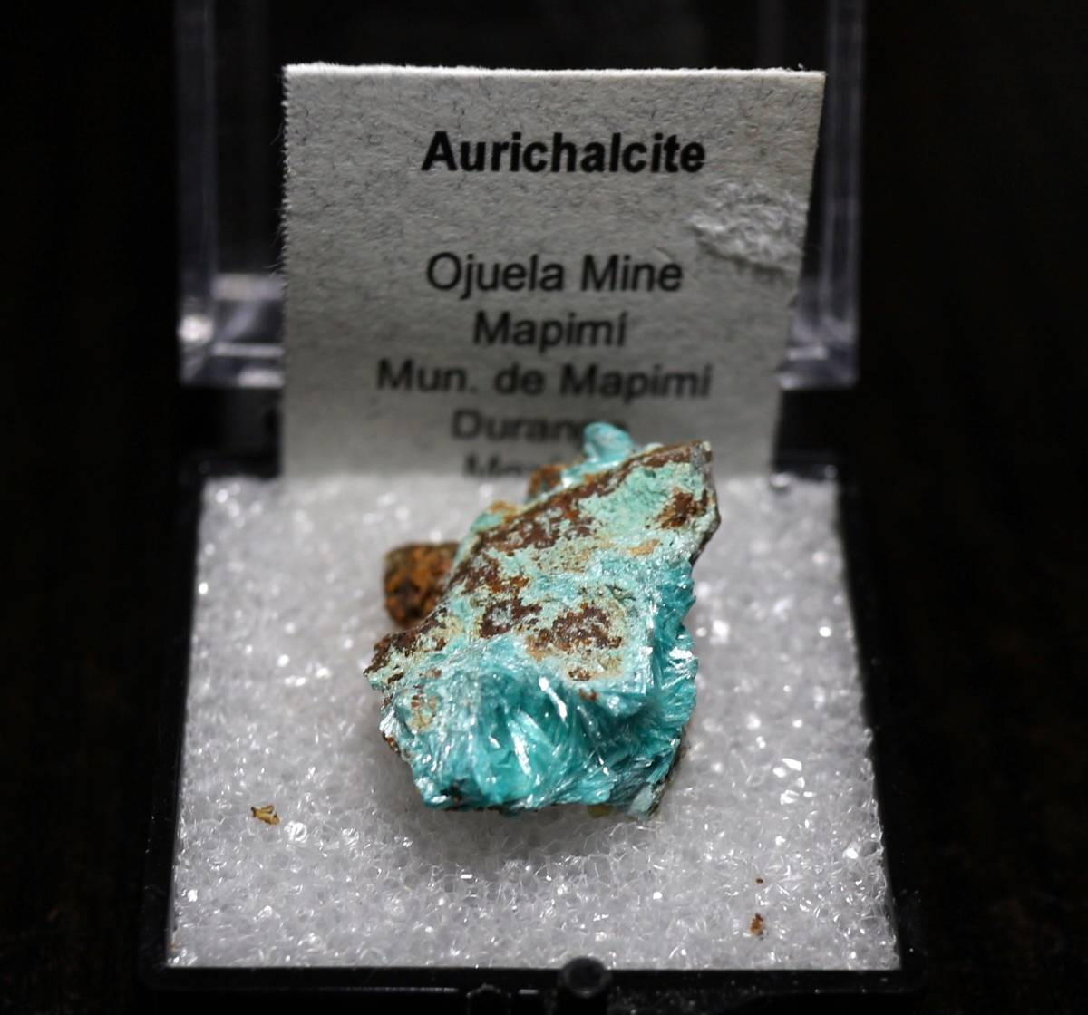 メキシコ産 水亜鉛銅鉱 / オーリチャルサイト ケース入り ACC002