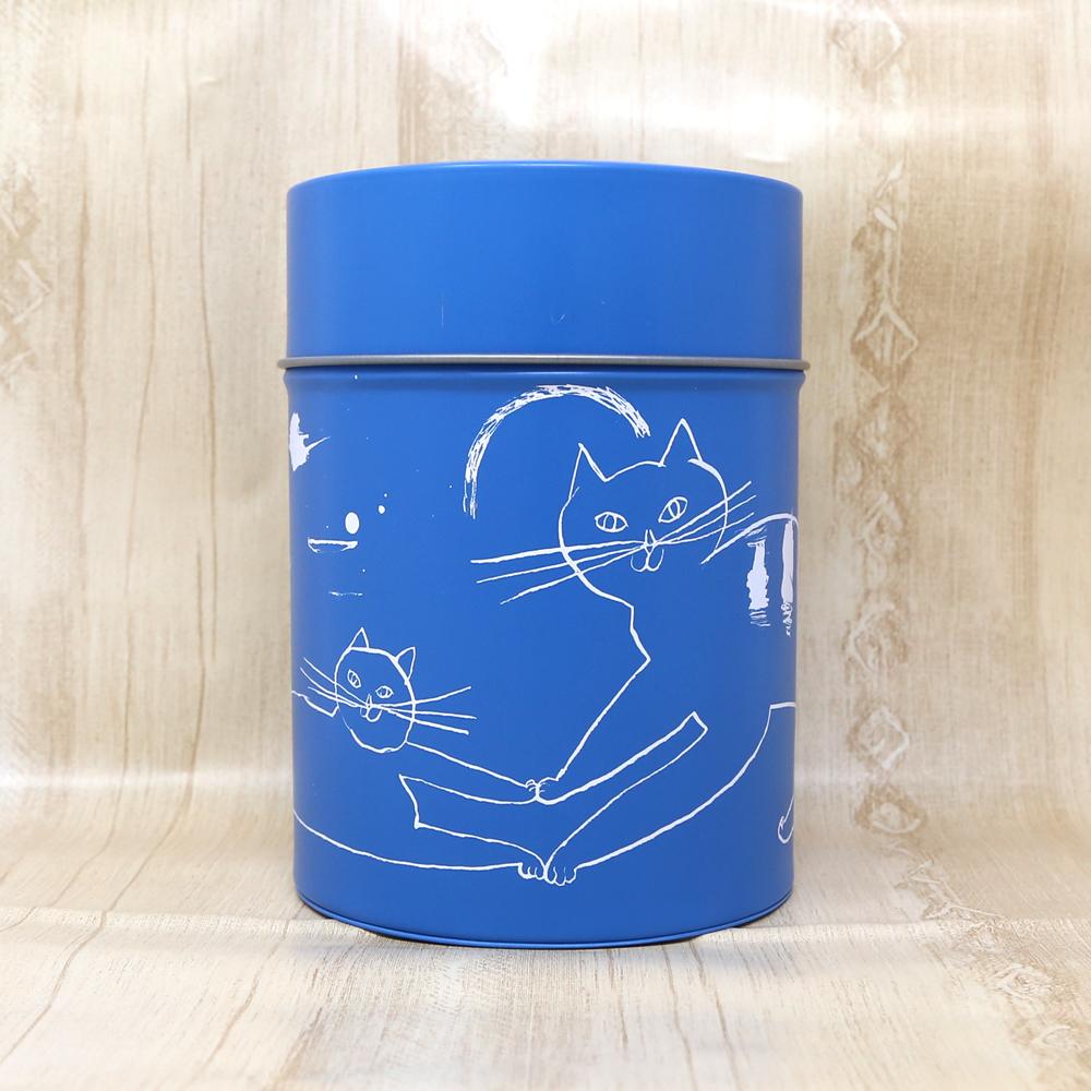 猫コーヒーキャニスター(トラネコボンボン)ブルー