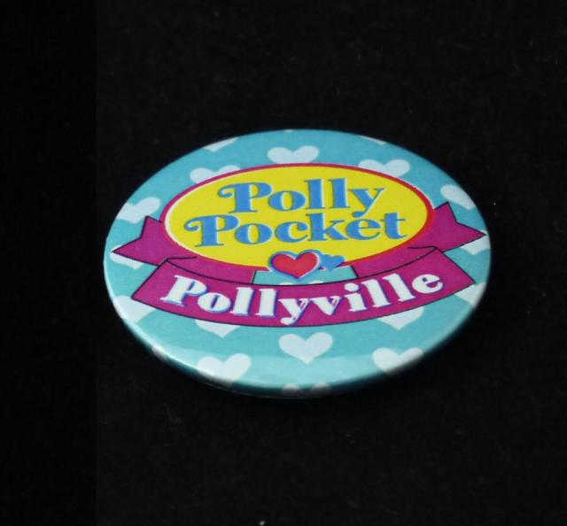 SALE!ポーリーポケット ブリキバッジ 水色
