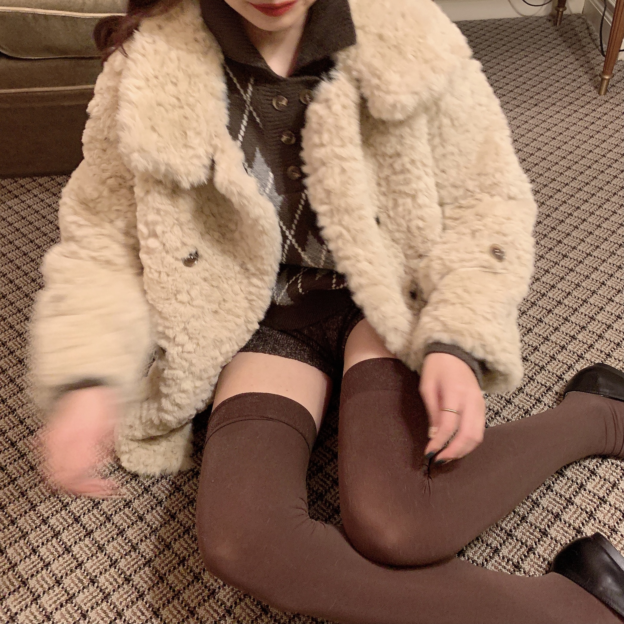 【予約】double button fur coat