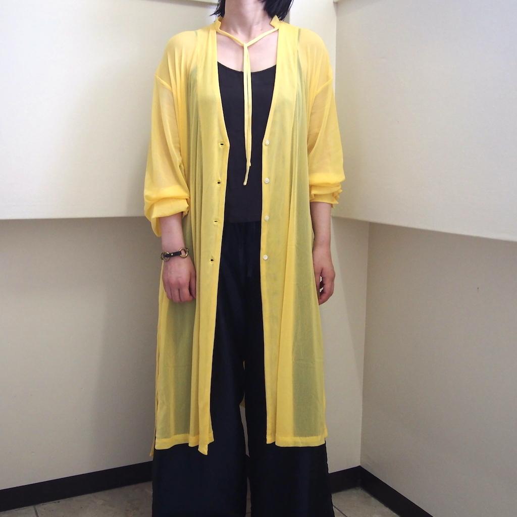 【hippiness】tulle over cardigan(yellow) /【ヒッピネス】チュール オーバー カーディガン(イエロー)