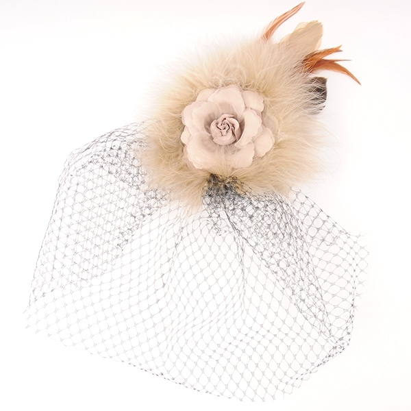 Joe17AW-L02 rose fur head dress (beige)