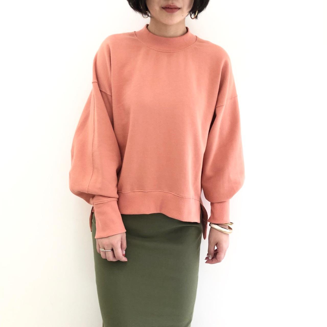 【 QTUME 】- 950-25518 - モックネックスウェットL/S Teeシャツ