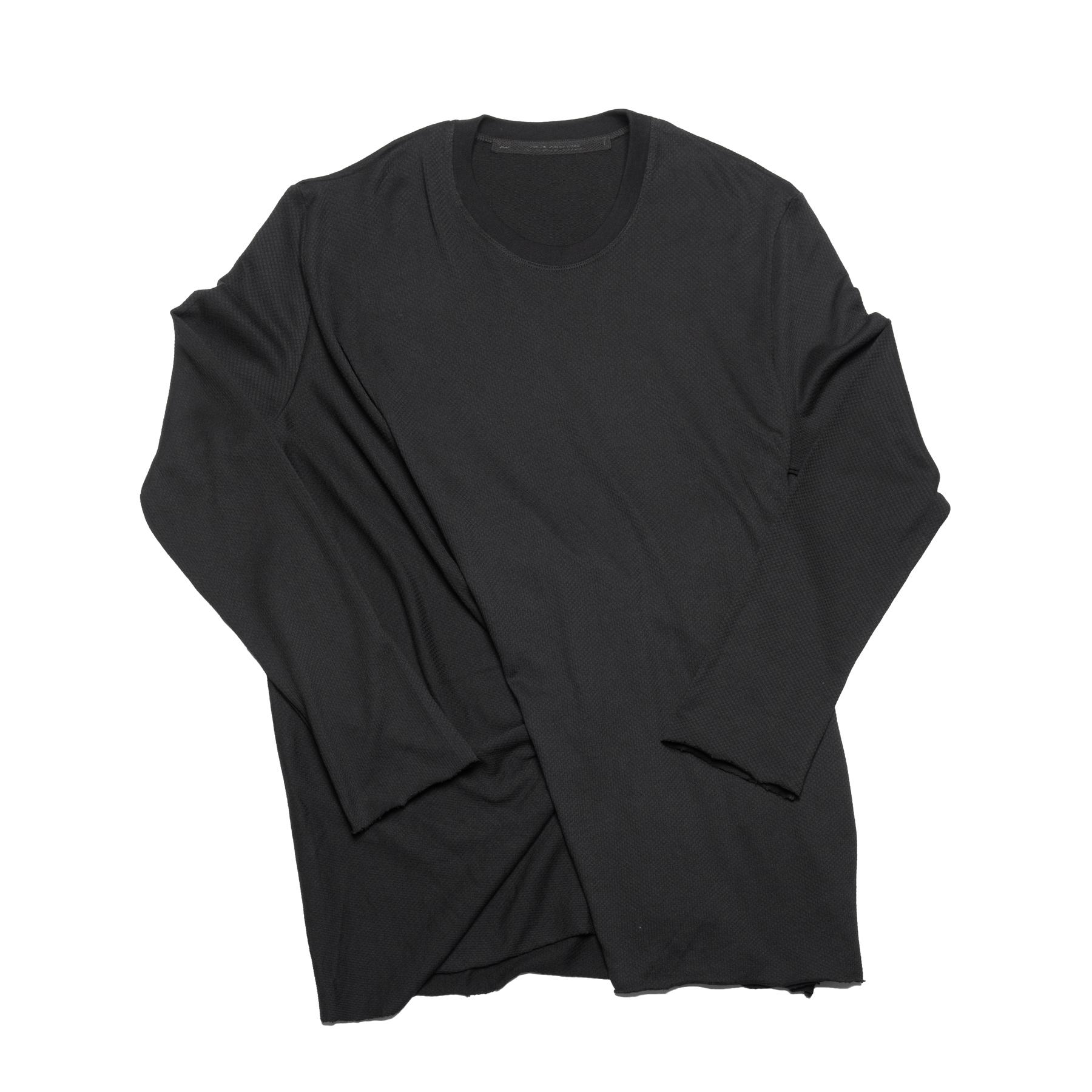 637CUM21-BLACK / シャーリング ロングスリーブ T-シャツ