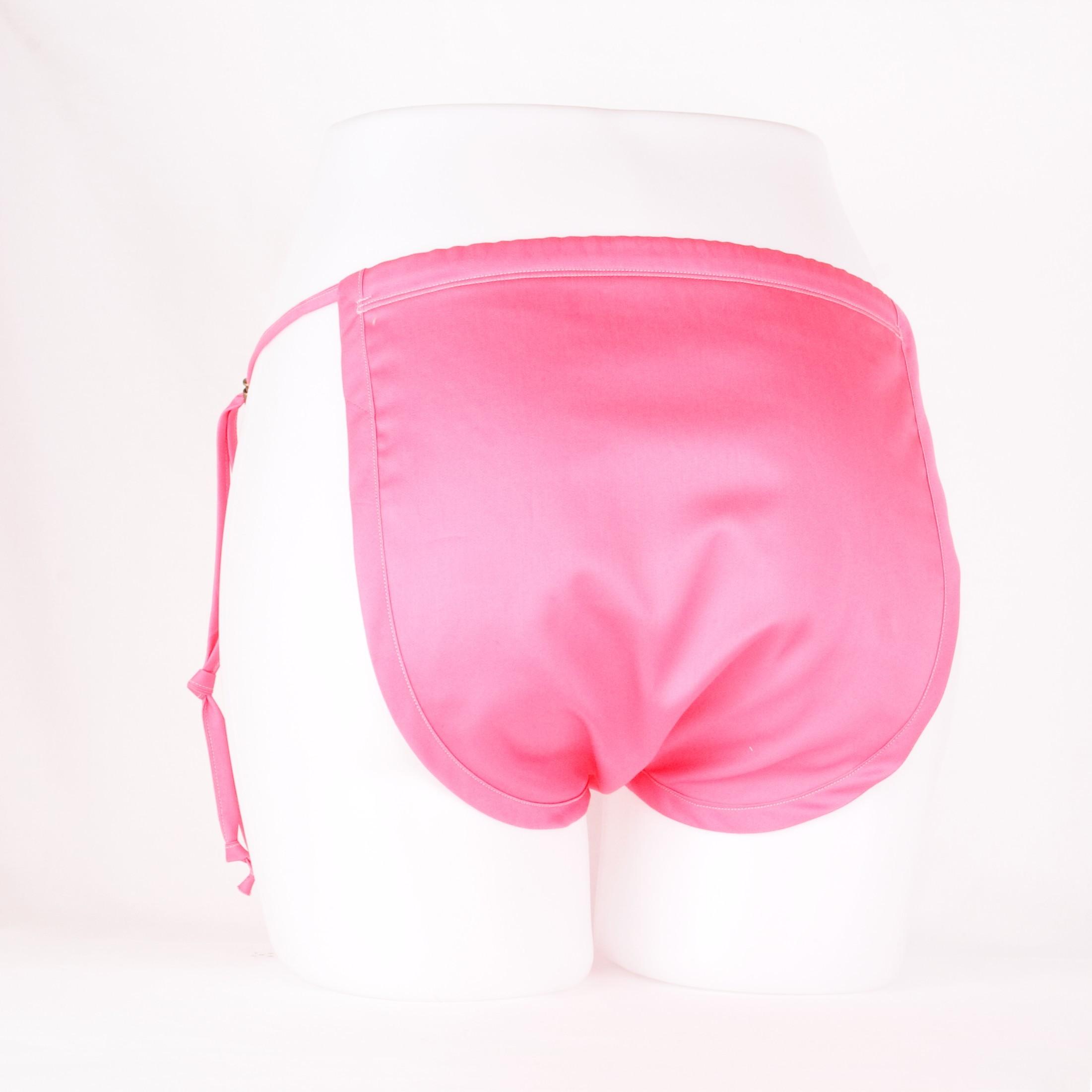 ゴムフリーパンツプレミアム コットンサテン ピンク サイズ:M~LL