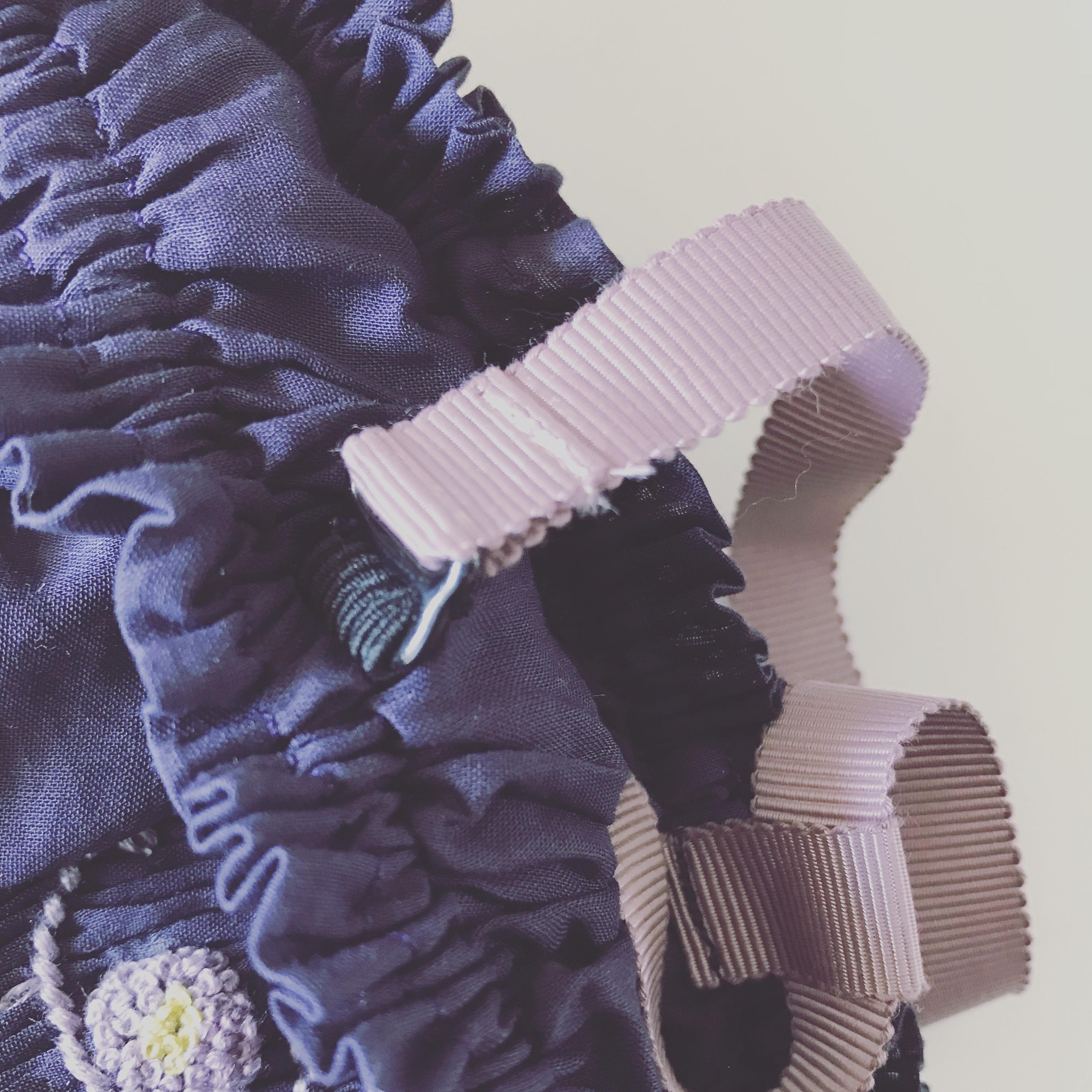 【パープル】smockingdress&bloomer