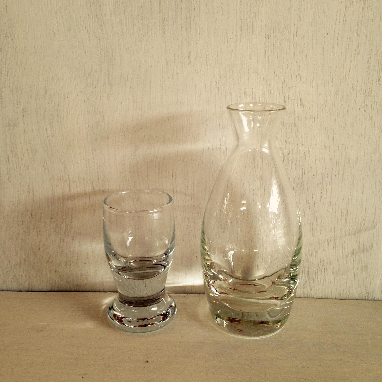 ガラスの徳利とお猪口(セット)