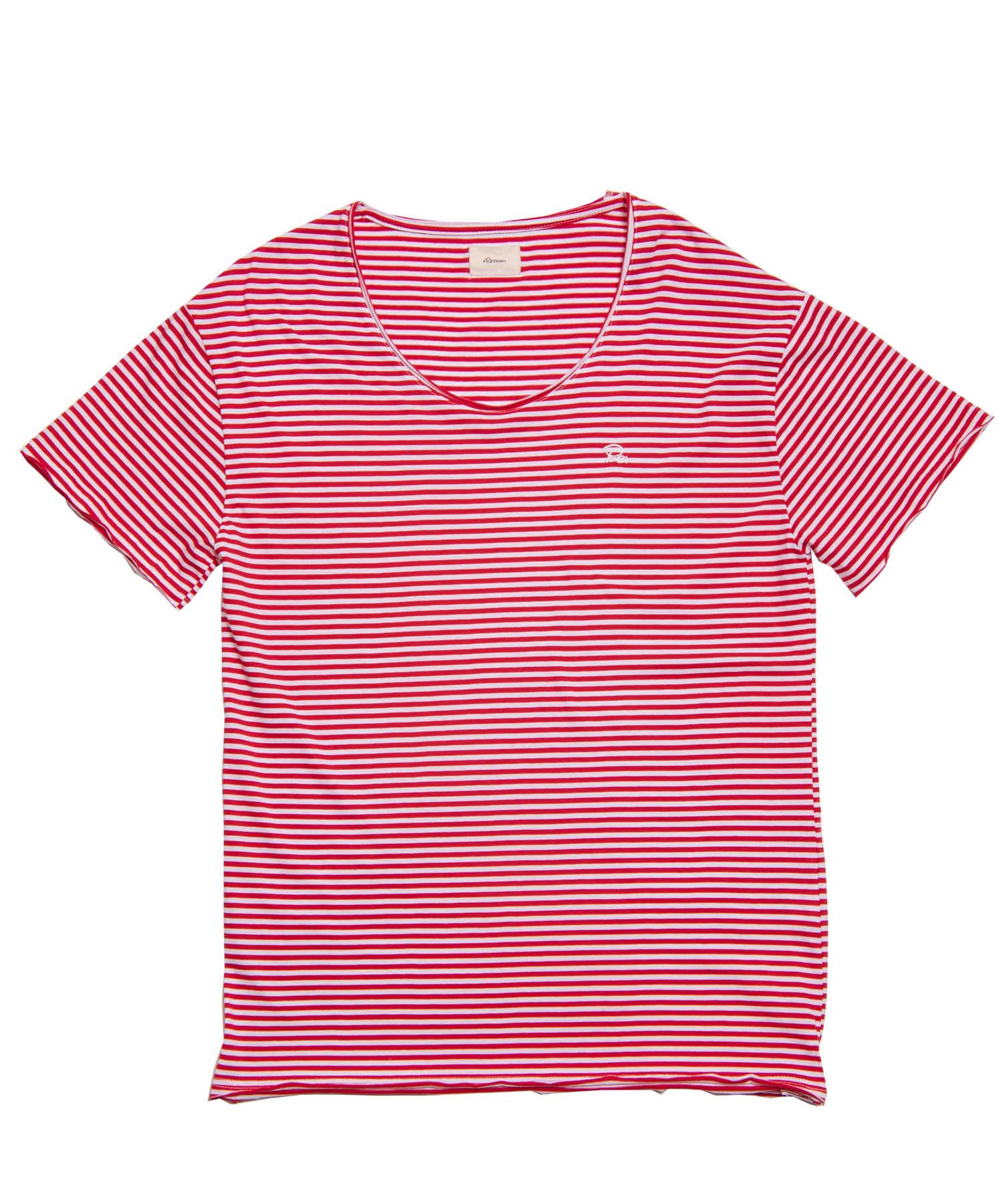 Re: ONE POINT BORDER BIG T-shirt[REC202]