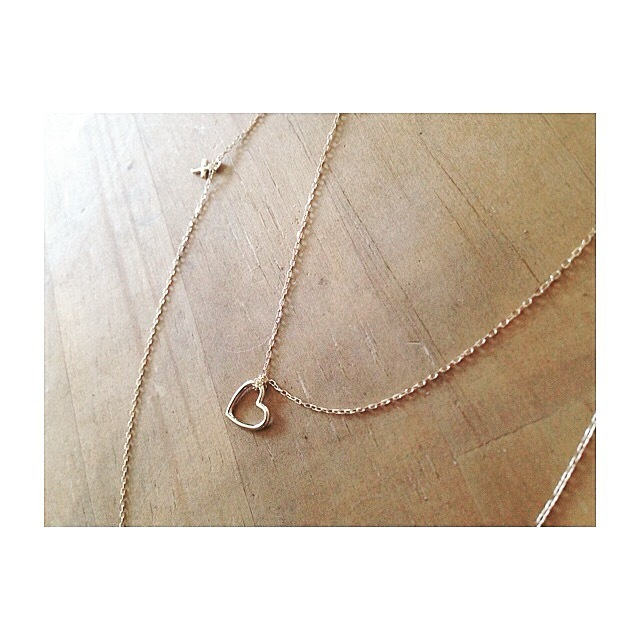 K18♡charm/necklace