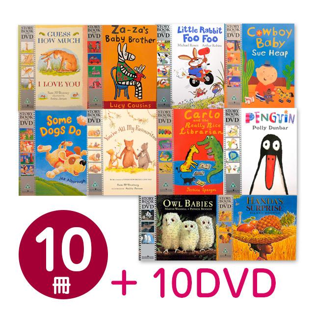 ★英語DVD10枚付★英語絵本10冊+DVD10枚セット