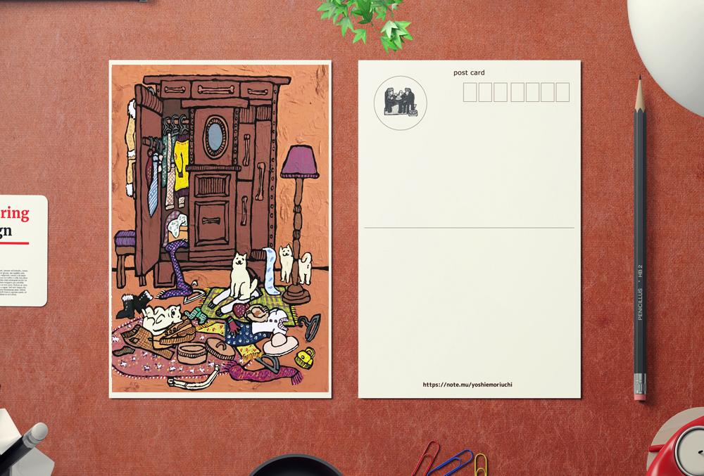 【ポストカード3枚セット】SHIBA closet(シバ クローゼット)、信頼できる Senior Art Director、黒柴さんと黒猫さん