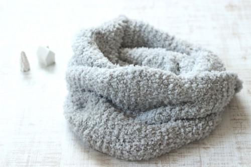手編みのスヌード グレー/sakura 型番: Z-16グレー