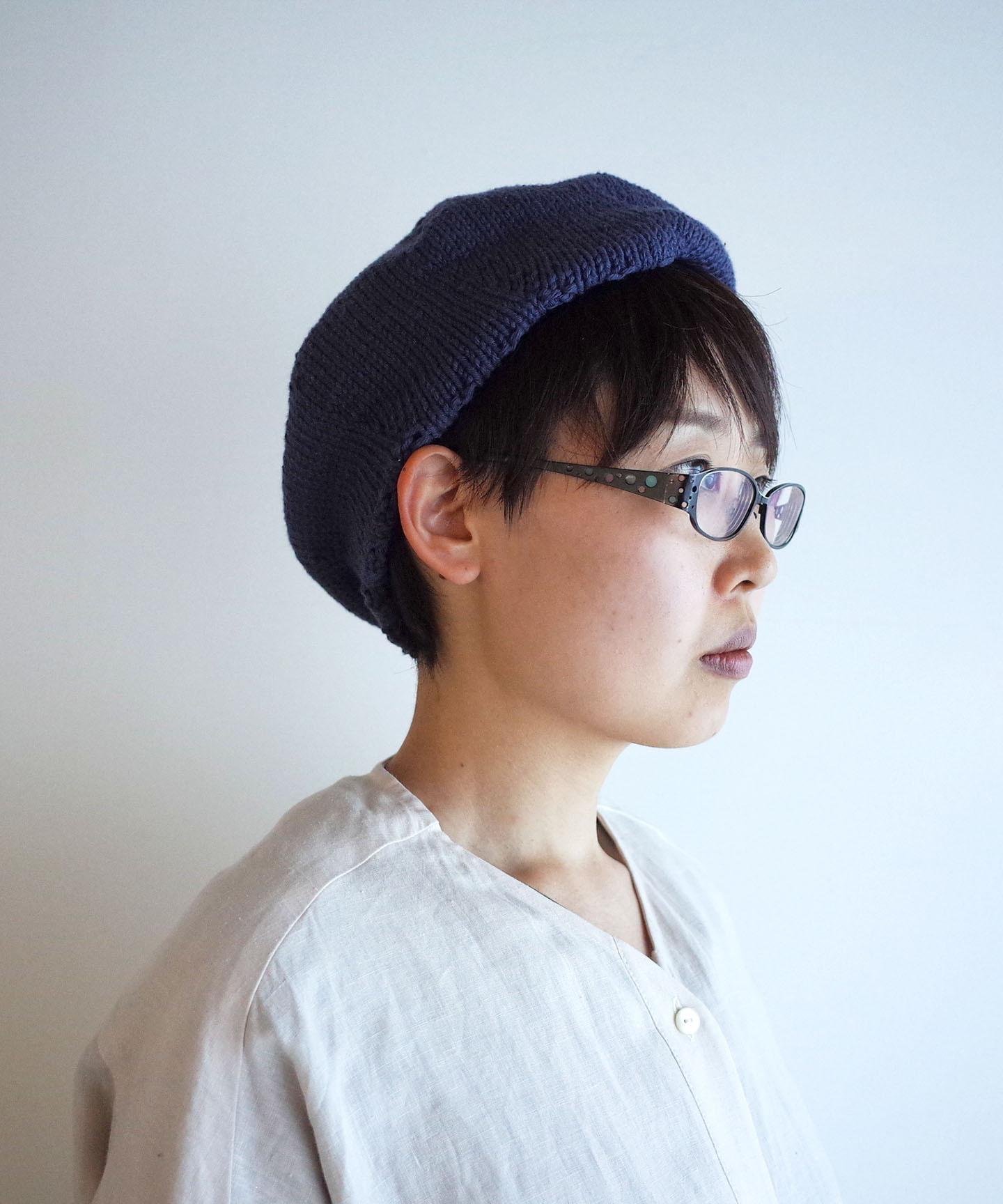 【編み物キット】コットンベレー帽(糸:No.13 )