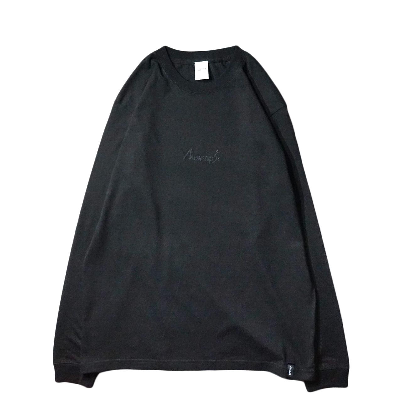 BASIC LOGO Hard works L/S CT【T.Black×Black】 - 画像1