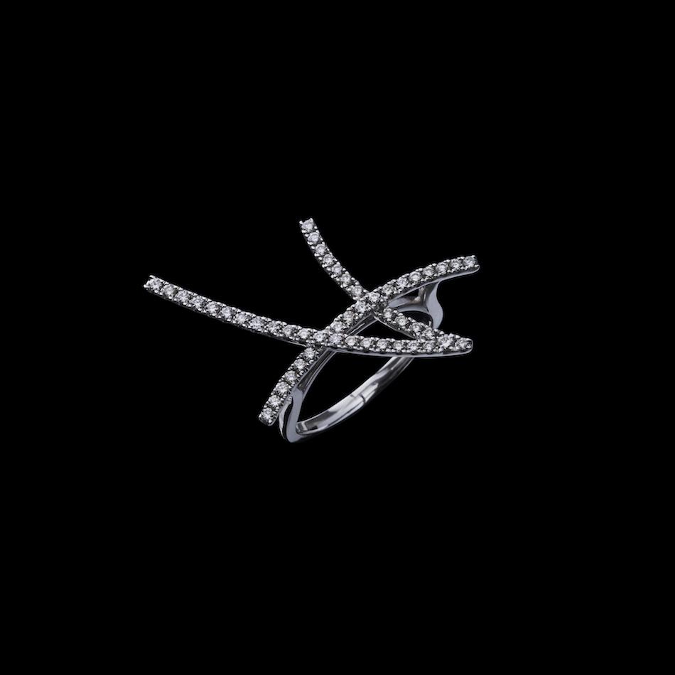 jg <Ace> リング(右向き) K18/ダイヤモンド