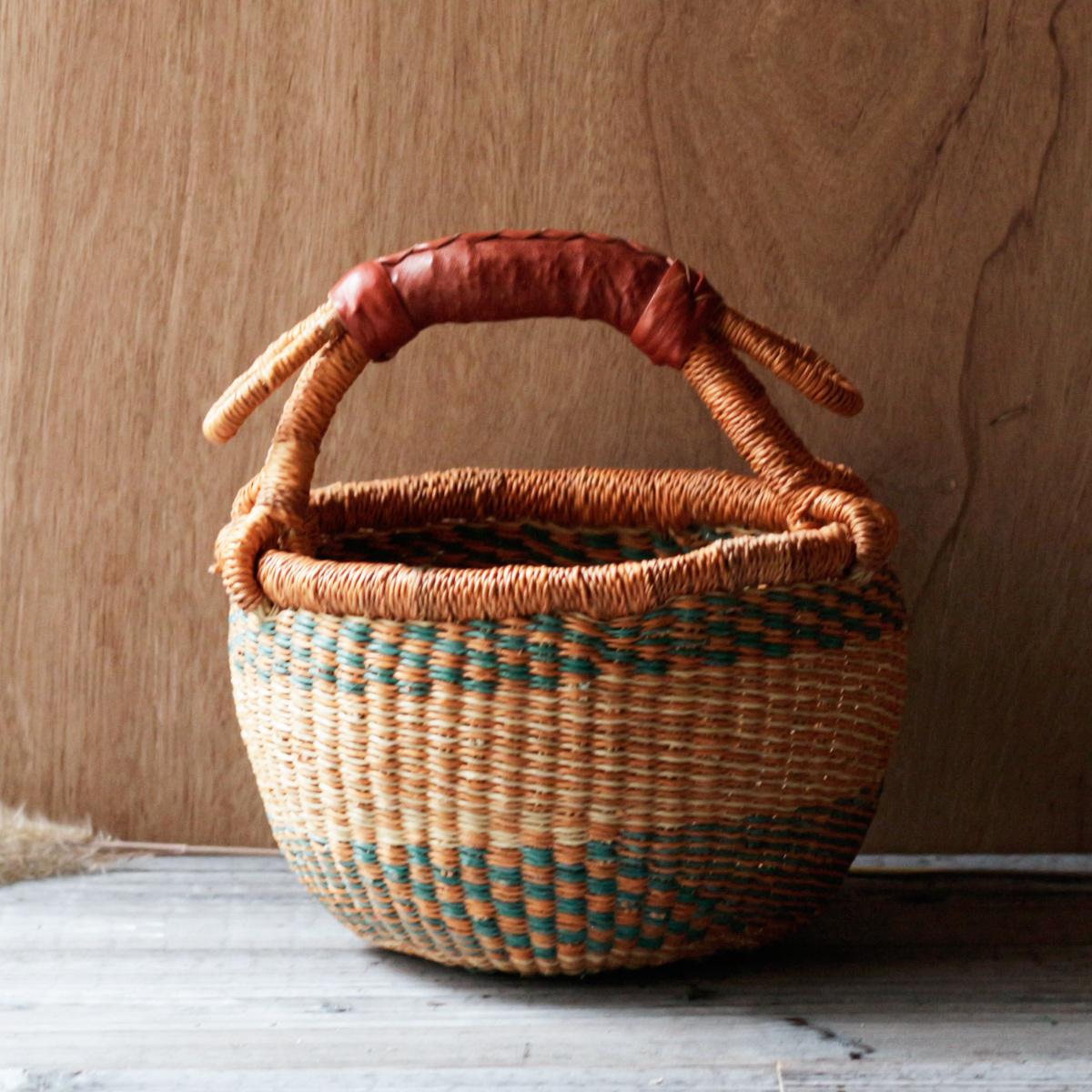 ガーナの手編み ボルガバスケット / 小 P