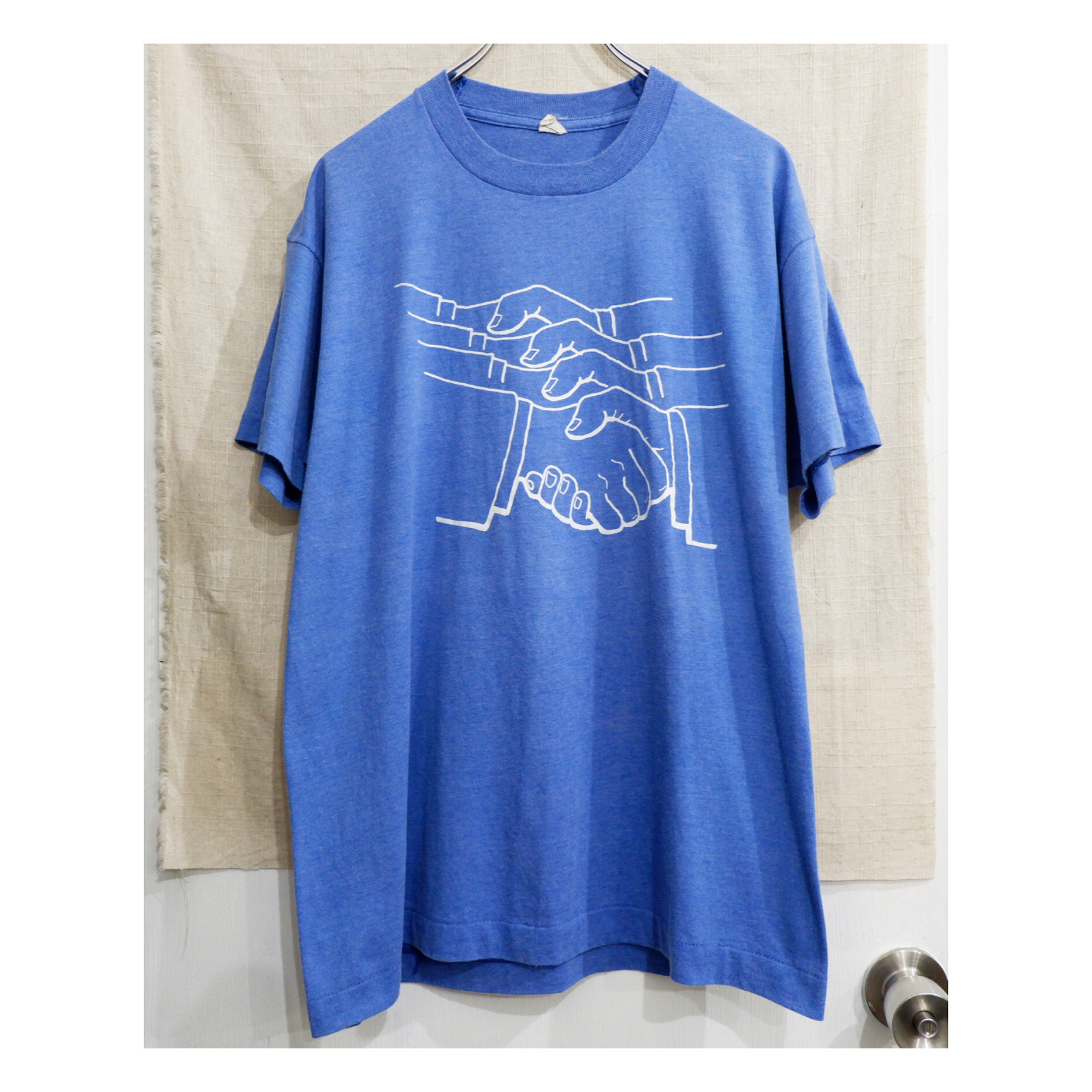 アメリカ古着 1980s USA製 ハンドサイン プリント T-シャツ