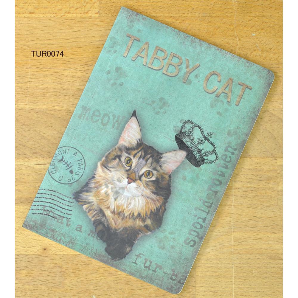 猫ノート(ほぼA5サイズ)タビー