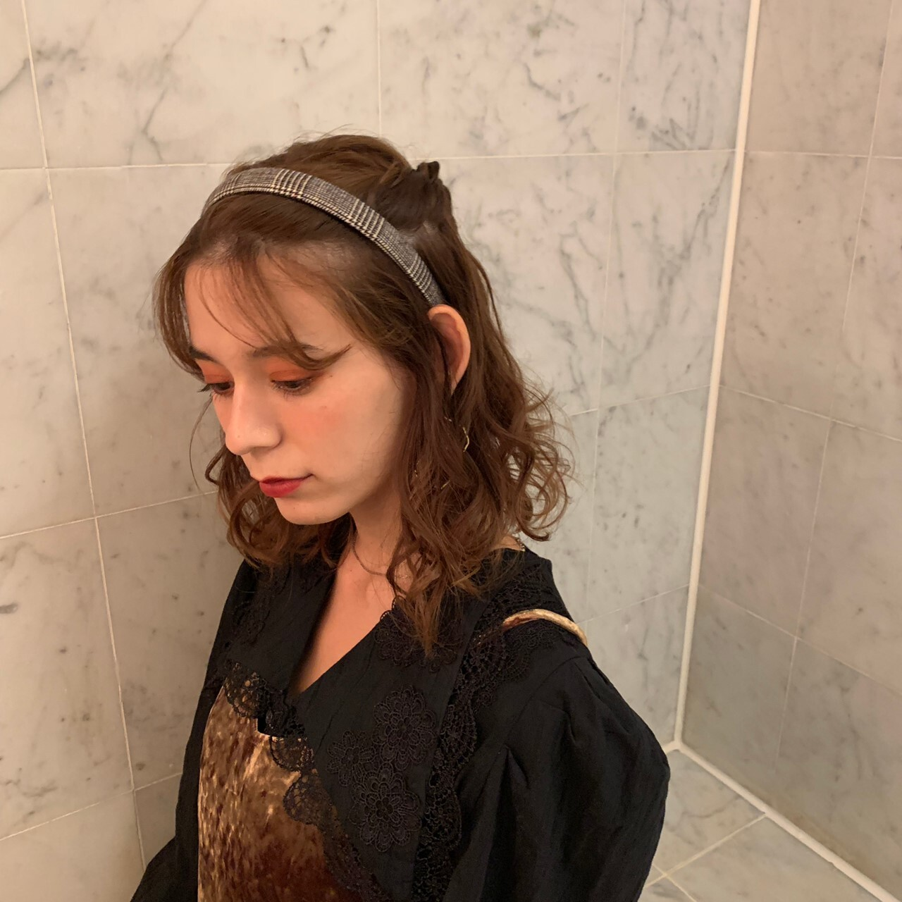 check hair accessory ( slim )