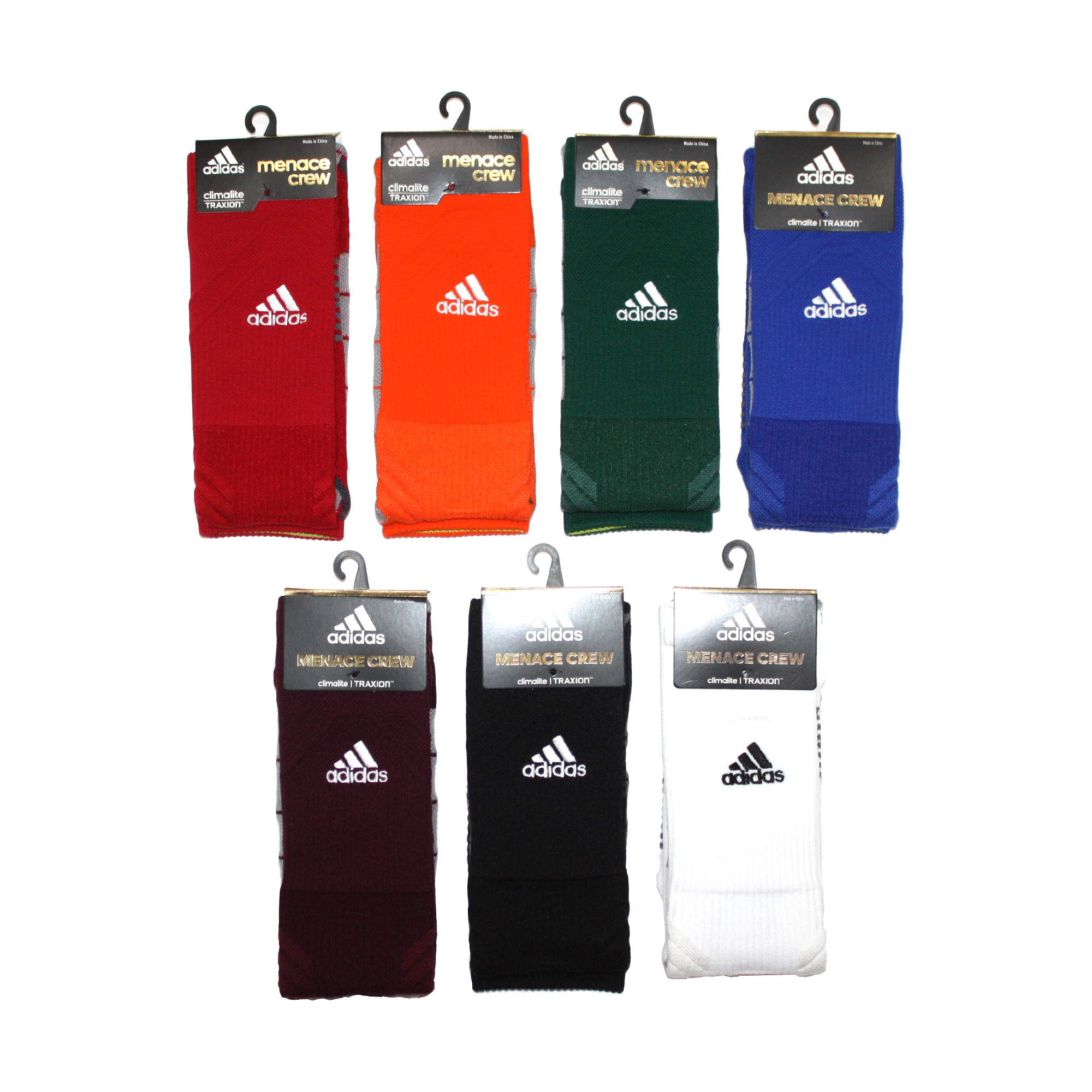 "ADIDAS ""MENACE CREW"" Socks 7 Colors"