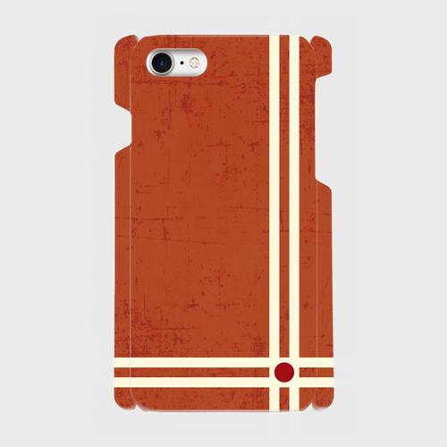 レトロストライプ(赤) / iPhoneスマホケース(ハードケース)