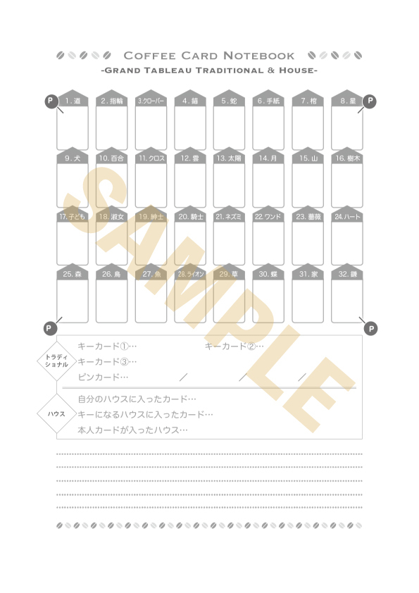 【ノート】コーヒーカードグランタブロー練習帳