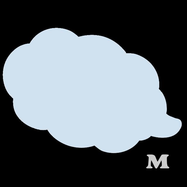 ふきだし型A-1(M)★ライトブルー