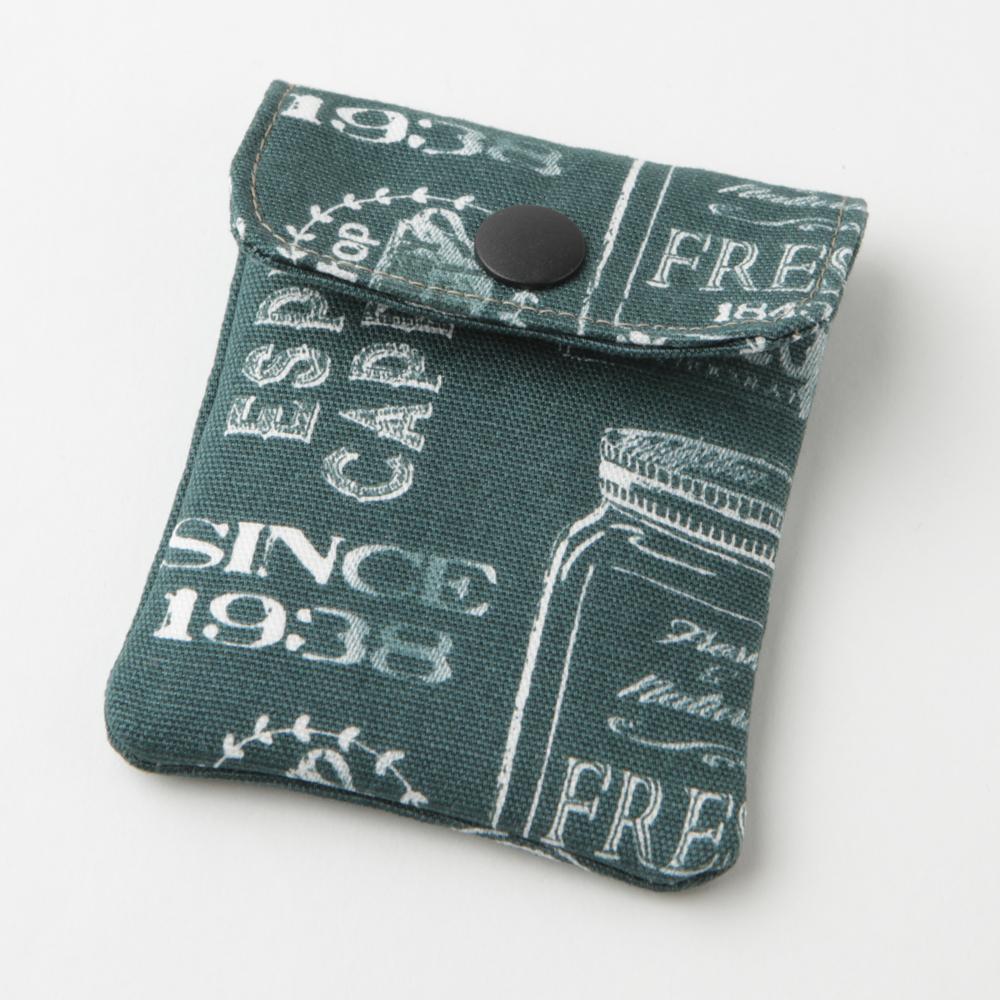 携帯灰皿 おしゃれ かわいい アメリカン カフェ グリーン 48107 熟練職人のハンドメイド インナーリフィル合計2個付属 日本製