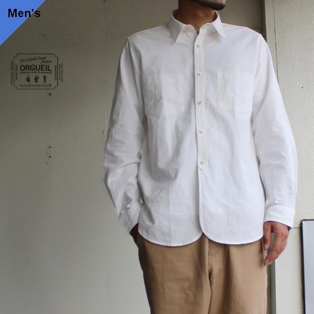 Orgueil ワークシャツ ホワイト OR-5040A