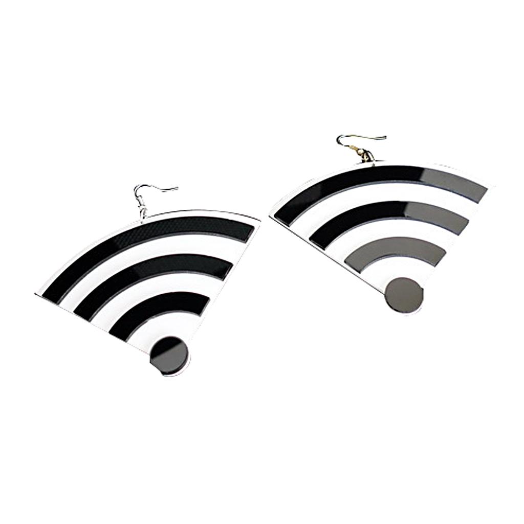 IUHA 【ユニークシリーズ】wifi モチーフのピアス おしゃれ  耳飾り 個性的 パーティー プレゼント   iuha1991710043