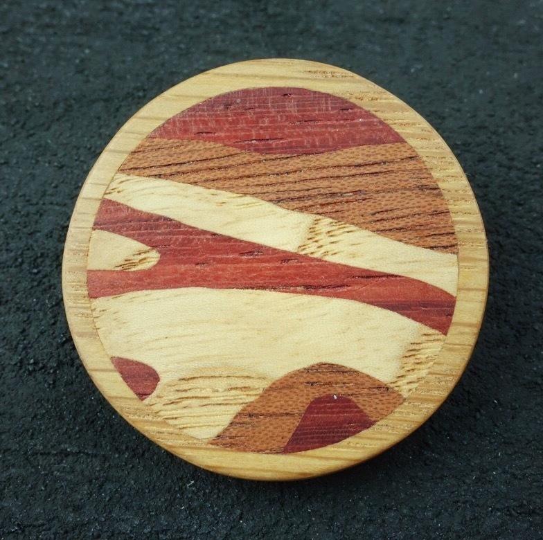 wooden inlaid charm IB-023-NA