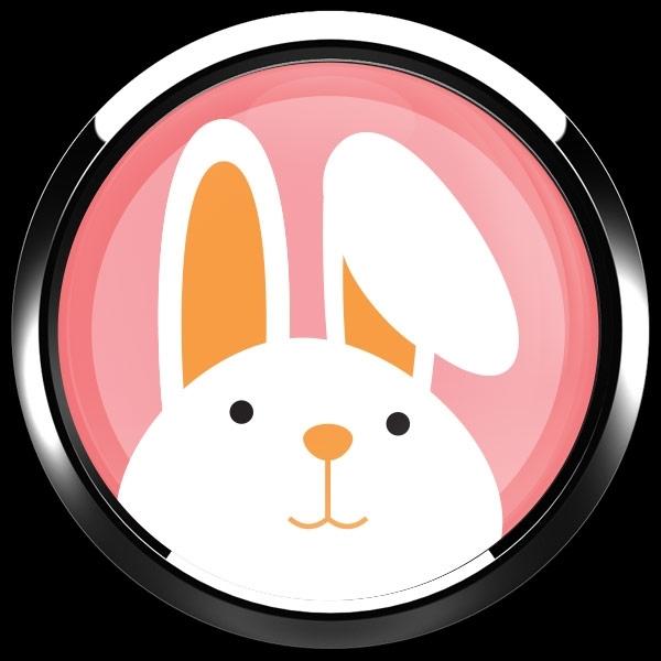 ゴーバッジ(ドーム)(CD0918 - Seasonal EASTER BUNNY) - 画像3