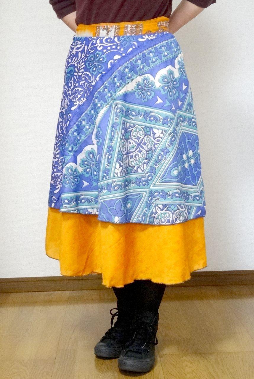 dss-016 シルクサリー巻きスカートショート