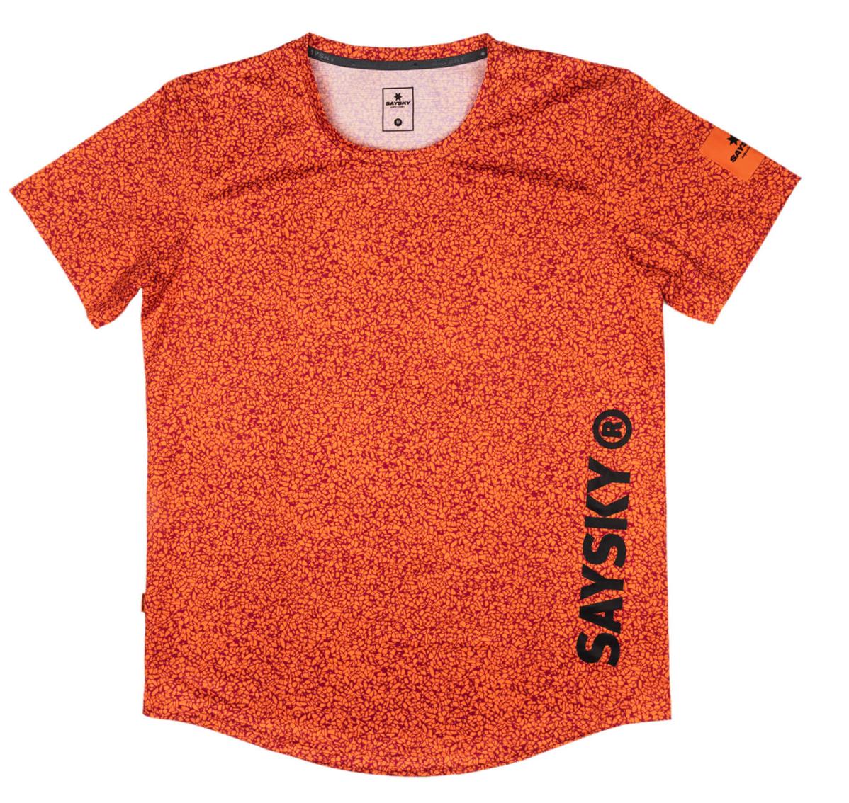 【10%OFF】SAYSKY ランニングTシャツ Terazzo Combat Tee - RED CLAY TERAZZO PRINT [ユニセックス] FMRSS21 2021S New Arrival Running T-shirts Unisex